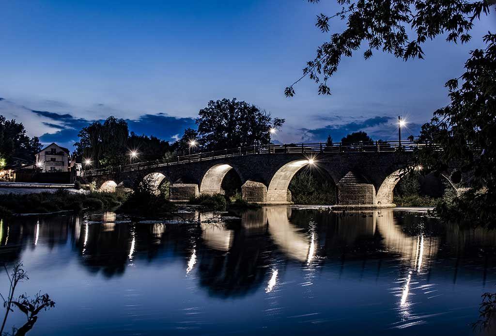Fotoleinwand Lichterwelt Blue Wehr in Jena-Burgau