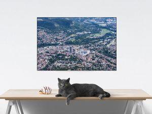 Fotoleinwand Jena-City aus der Vogelperspektive
