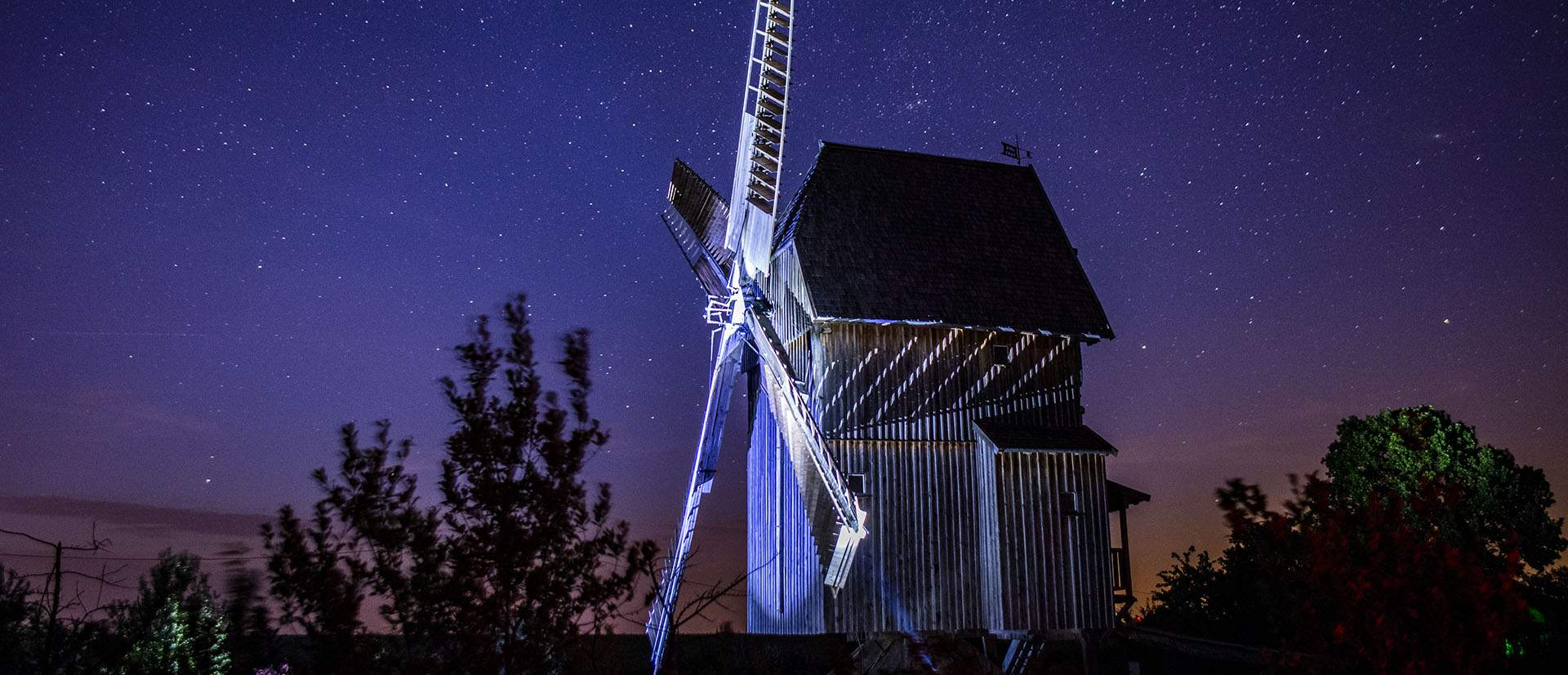 Nacht-Fotowalk Bockwindmühle Krippendorf