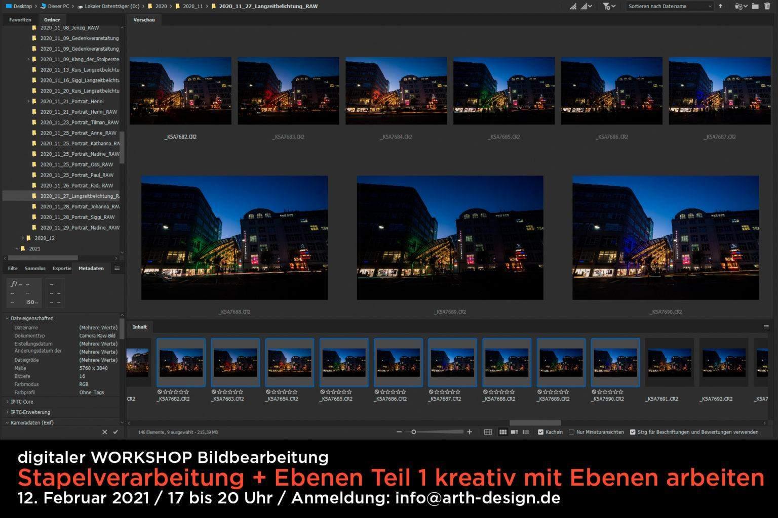 """Bildbearbeitung """"Stapelverarbeitung"""" und """"Ebenen Teil 1"""""""