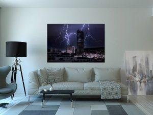 Blitz über dem JenTower