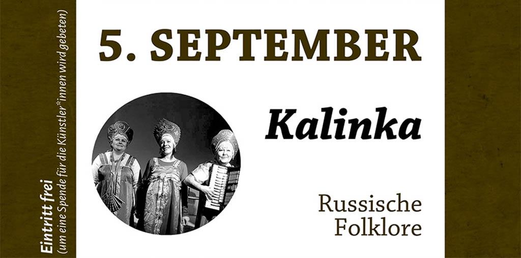 Folklore-Ensemble Kalinka am 05.09. zu Gast im Kubus Jena