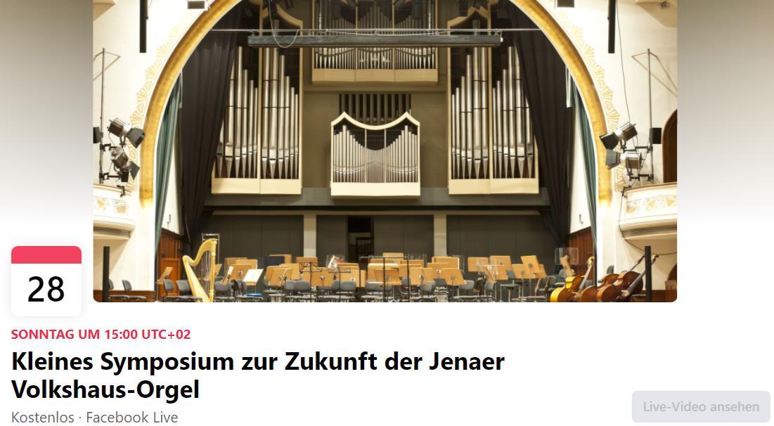 Kleines Symposium zur Zukunft der Jenaer Volkshaus-Orgel
