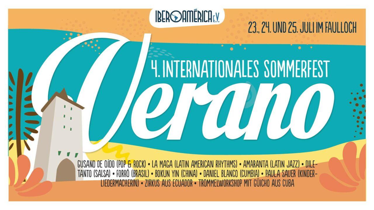 """Sommerfest """"Verano"""" in Jena vom 23. bis 25.07.2021"""