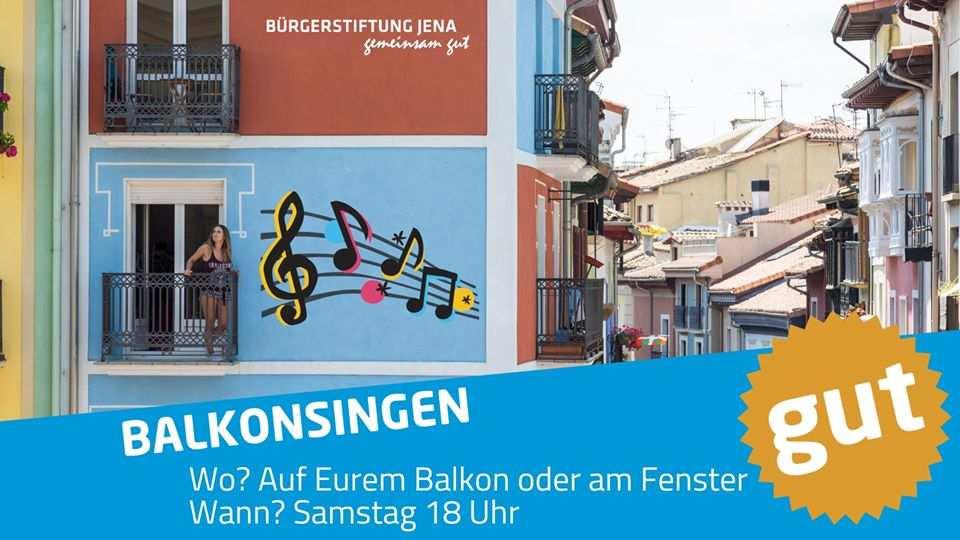 Balkonsingen 02.Mai in Jena .. Holt die Gitarre auf den Baklon