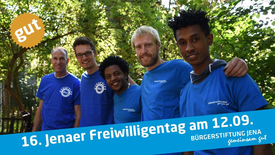 16. Jenaer Freiwilligentag am 12.09.2020 – Bürgerstiftung Jena