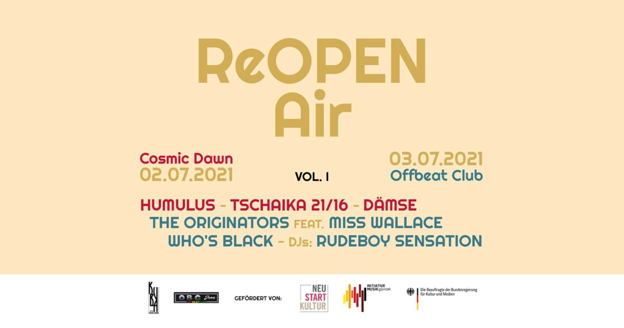 ReOpen Air / Jena 2021 Papiermühle 02. und 03. JULI