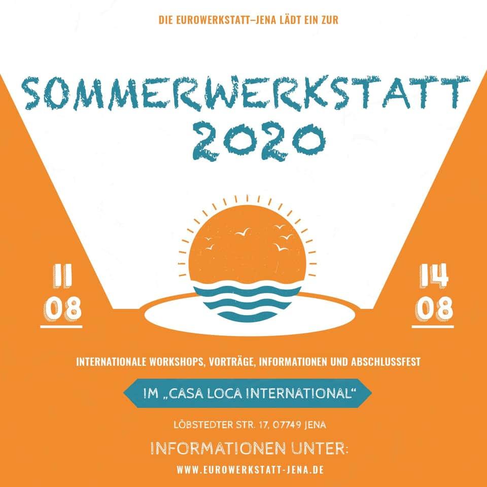 Sommerwerkstatt 2020 – 11. bis 14. August mit Workshops