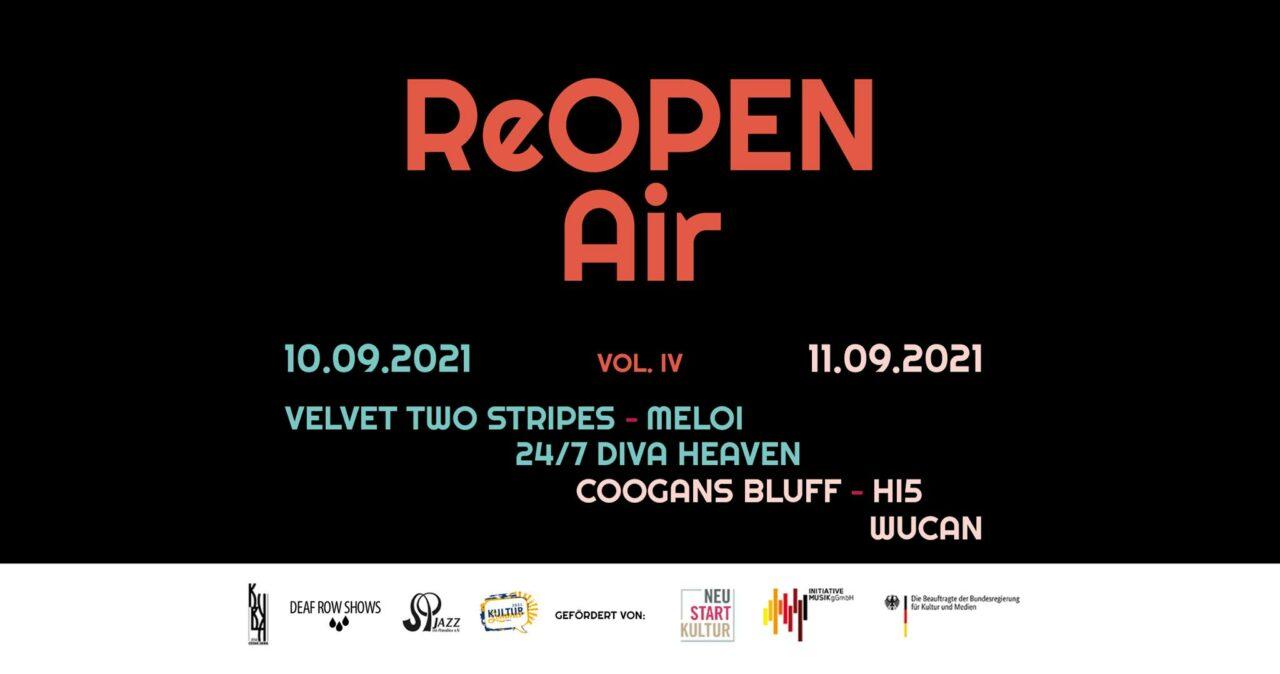 ReOPEN Air Vol. IV am 10. und 11. September Papiermühle Jena