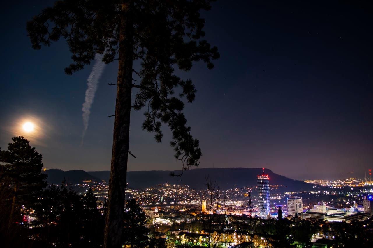 Fotografie Nachtpanorama von Jena – Landgrafen