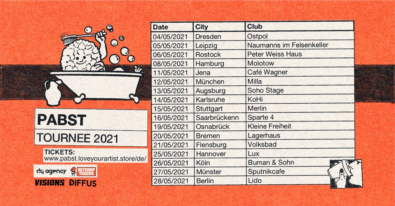 Verschoben!!! PABST Tournee 2021 im Café Wagner Jena